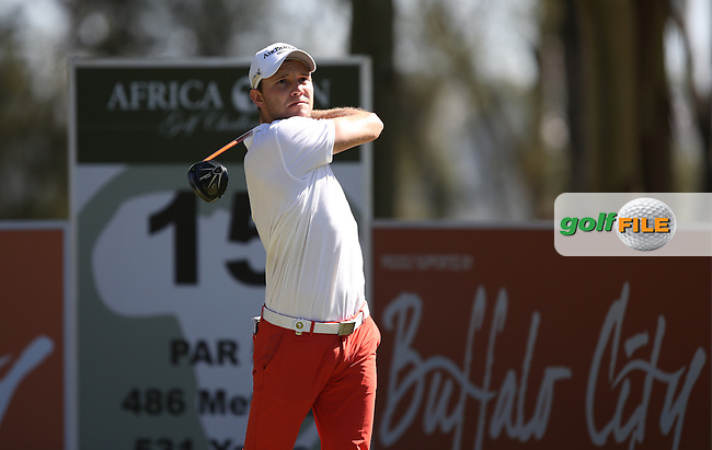 Maximilian  Kieffer (GER) started well but the back 9 hurt for a 71 during Round Three of the Africa Open 2015 at the East London Golf Club, East London, Eastern Cape, South Africa. Picture:  David Lloyd / www.golffile.ie. 07/03/2015