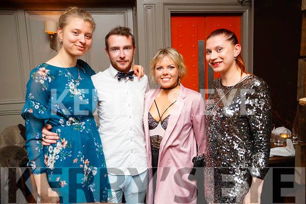 Aleksandra Michniewicz, Jack Sheehy, Susan Carey, Anastazja Michniewicz, enjoying a night out at No. 4 The Square, Tralee, on Saturday night last.