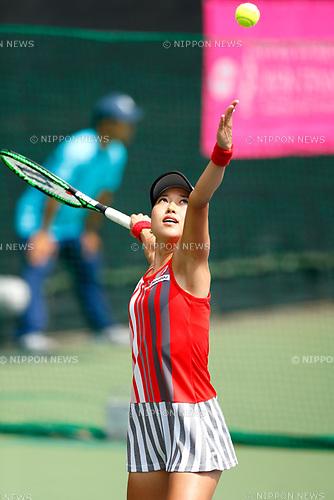 Miharu Imanishi (JPN), <br /> SEPTEMBER 11, 2017 - Tennis : <br /> Japan Women's Open Tennis 2017 <br /> match between <br /> Danka Kovinic - Miharu Imanishi <br /> at Ariake Tennis Park in Tokyo, Japan. <br /> (Photo by Yohei Osada/AFLO)