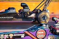 Oct 18, 2019; Ennis, TX, USA; NHRA top alcohol dragster driver Jasmine Salinas during qualifying for the Fall Nationals at the Texas Motorplex. Mandatory Credit: Mark J. Rebilas-USA TODAY Sports