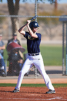 Blake Smith (50), from Minot Air Force Base, North Dakota, while playing for the Padres during the Under Armour Baseball Factory Recruiting Classic at Red Mountain Baseball Complex on December 29, 2017 in Mesa, Arizona. (Zachary Lucy/Four Seam Images)