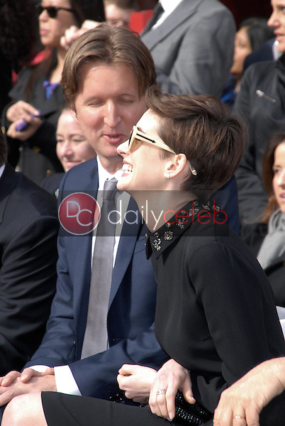 Tom Hooper, Anne Hathaway<br /> at the Hugh Jackman Star on the Hollywood Walk of Fame Ceremony, Hollywood, CA 12-13-12<br /> David Edwards/DailyCeleb.com 818-249-4998