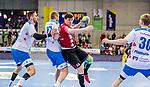 Vorlicek, Philipp (HSG Nordhorn-Lingen #22) / Roethlisberger, Samuel (TVB Stuttgart #17) / TVB 1898 Stuttgart - HSG Nordhorn Lingen / HBL / LIQUI MOLY 1.Handball-BundesligaSCHARRena / Stuttgart Baden-Wuerttemberg / Deutschland <br /> <br /> Foto © PIX-Sportfotos *** Foto ist honorarpflichtig! *** Auf Anfrage in hoeherer Qualitaet/Aufloesung. Belegexemplar erbeten. Veroeffentlichung ausschliesslich fuer journalistisch-publizistische Zwecke. For editorial use only.