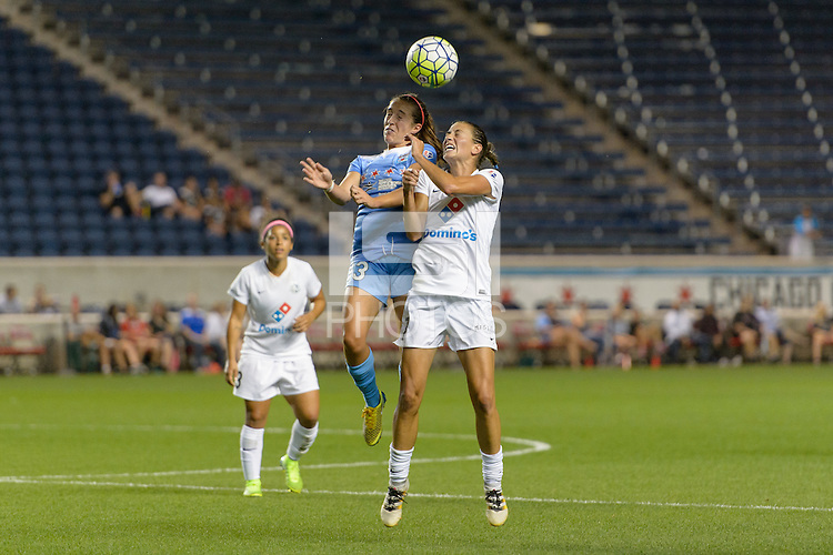 Chicago, IL - Wednesday Sept. 07, 2016: Amanda Da Costa, Mandy Laddish during a regular season National Women's Soccer League (NWSL) match between the Chicago Red Stars and FC Kansas City at Toyota Park.