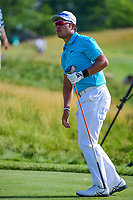 Hideki Matsuyama (JPN) watches his tee shot on 12 during Thursday's round 1 of the 117th U.S. Open, at Erin Hills, Erin, Wisconsin. 6/15/2017.<br /> Picture: Golffile | Ken Murray<br /> <br /> <br /> All photo usage must carry mandatory copyright credit (&copy; Golffile | Ken Murray)