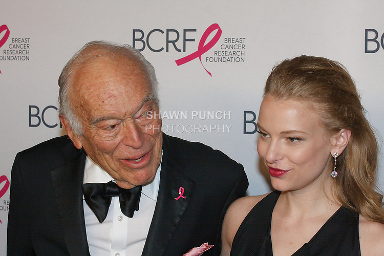 "Leonard Lauder and Danielle Lauder attend The Breast Cancer Research Foundation ""Super Nova"" Hot Pink Party on May 12, 2017 at the Park Avenue Armory in New York City."