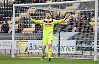Goalkeeper Scott Loach of Notts County during the Sky Bet League 2 match between Notts County and Wycombe Wanderers at Meadow Lane, Nottingham, England on 28 March 2016. Photo by Andy Rowland.