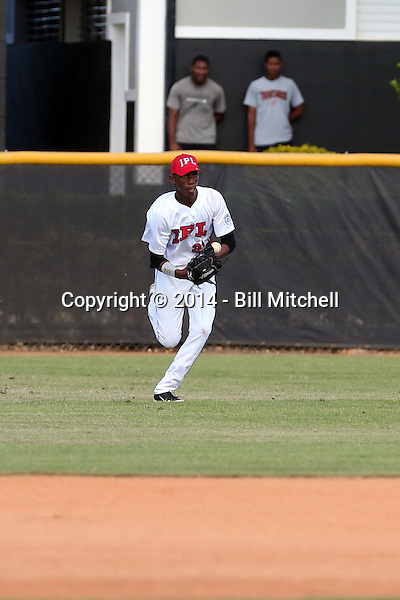 Remy Cordero participates in the International Prospect League Showcase at the New York Yankees academy in Boca Chica, Dominican Republic on January 24, 2014 (Bill Mitchell)
