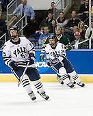 Nick Jaskowiak (Yale - 5), Chris Cahill (Yale - 24), Viktor Stalberg (Vermont - 18) - The University of Vermont Catamounts defeated the Yale University Bulldogs 4-1 in their NCAA East Regional Semi-Final match on Friday, March 27, 2009, at the Bridgeport Arena at Harbor Yard in Bridgeport, Connecticut.
