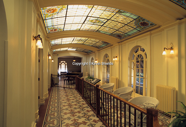 The Music Room at the Fordyce Bathhouse Visitor Center at Hot Springs National Park, Arkansas, USA