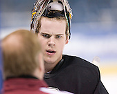 (Jim Logue) Adam Reasoner - The Boston College Eagles practiced at the Bradley Center in Milwaukee, Wisconsin, on April 7, 2006 in preparation for the 2006 Frozen Four Final game vs. the University of Wisconsin on April 8, 2006.
