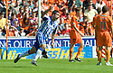 KILMARNOCK'S RORY MCKEOWN CELEBRATES AFTER HE SCORES THE OPENER