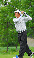 Madison Memorial's Jason An tees off on the second hole at the 2008 WIAA state golf championship on Tuesday, 6/3/08, at University Ridge in Madison, Wisconsin
