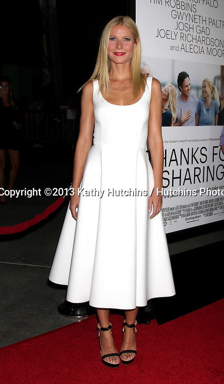 """LOS ANGELES - SEP 16:  Gwyneth Paltrow at the """"Thanks for Sharing"""" Premiere  at ArcLight Hollywood Theaters on September 16, 2013 in Los Angeles, CA"""