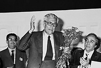 - Riccardo Lombardi al congresso nazionale del PSI del 1981 ....- Riccardo lombardi at national conference of PSI (Italian Socialist Party) in 1981