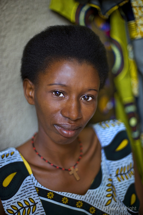 Woman who's been affected by the genocide in Rwanda, 2008