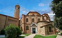 Byzantine exterior of the Basilica of San Vitale in Ravenna, Italy. A UNESCO World Heritage Site