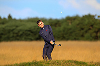 Conor Gough (GB&I) on the 5th during Day 2 Foursomes of the Walker Cup, Royal Liverpool Golf CLub, Hoylake, Cheshire, England. 08/09/2019.<br /> Picture Thos Caffrey / Golffile.ie<br /> <br /> All photo usage must carry mandatory copyright credit (© Golffile | Thos Caffrey)