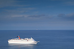 Holiday cruise ship anchored in the Pacific Ocean off Catalina Island, Southern California Coast