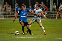 Kansas City, MO - Saturday July 22, 2017: Sydney Leroux, Sam Witteman during a regular season National Women's Soccer League (NWSL) match between FC Kansas City and the North Carolina Courage at Children's Mercy Victory Field.