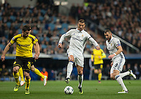 Real Madrid´s Portuguese forward Cristiano Ronaldo during the UEFA Champions League match between Real Madrid and Borussia Dortmund at the Santiago Bernabeu Stadium in Madrid, Tuesday, December 7, 2016.