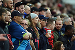 Unhappy Arsenal fans during the premier league match at the Britannia Stadium, Stoke. Picture date 19th August 2017. Picture credit should read: Robin Parker/Sportimage