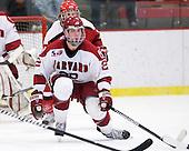 David Valek (Harvard - 22) - The Harvard University Crimson defeated the St. Lawrence University Saints 4-3 on senior night Saturday, February 26, 2011, at Bright Hockey Center in Cambridge, Massachusetts.