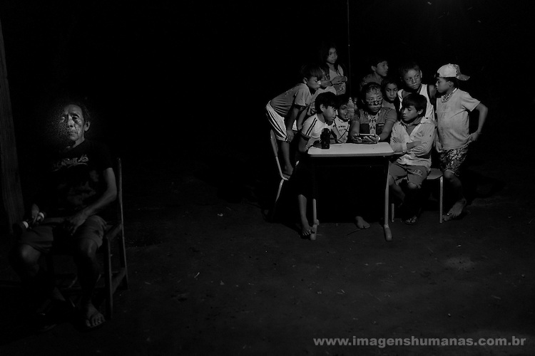 Oficina de fotografia Huni Kûin, aldeia Boa Esperança