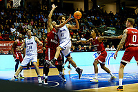 GRONINGEN - Basketbal, Donar - Benfica, voorronde Chamions League, seizoen 2019-2020, 20-09-2019,  Donar speler Shane Hammink onder de basket