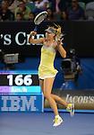 Maria Sharapova (RUS) wins at Australian Open in Melbourne Australia on 18th January 2013