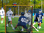 """May 11, 2019: The reigning NCAA champion Yale Bulldogs [white] defeated Georgetown 19-16 to advance to this years  quarter finals.  The """"lax"""" match was at Reese Stadium in New Haven, Connecticut on May 11, 2019. [Heary/Eclipse Sportswire/CSM]"""