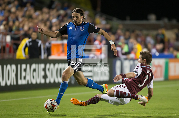 Santa Clara, California - May 7, 2014: The San Jose Earthquakes face off against the Colorado Rapids at Buck Shaw Stadium on Wednesday.