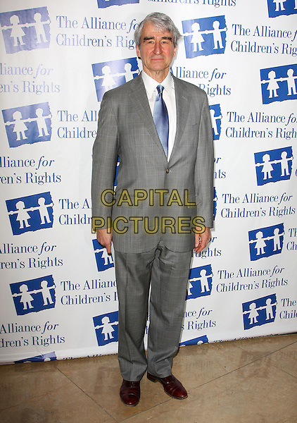 SAM WATERSTON .Attending The Alliance for Children's Rights held At The Beverly Hilton Hotel, Beverly Hills, California, USA,.10th February 2010..full length grey gray suit  blue tie .CAP/ADM/KB. ©Kevan Brooks/AdMedia/Capital Pictures..
