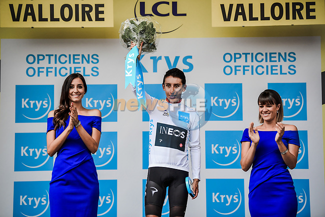 Egan Bernal (COL) Team Ineos finishes in 8th place at the end of Stage 18 and retains the White Jersey of the 2019 Tour de France running 208km from Embrun to Valloire, France. 25th July 2019.<br /> Picture: ASO/Pauline Ballet | Cyclefile<br /> All photos usage must carry mandatory copyright credit (© Cyclefile | ASO/Pauline Ballet)