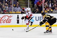 Tuesday, March 21, 2017: Ottawa Senators left wing Viktor Stalberg (24) shoots during the National Hockey League game between the Ottawa Senators and the Boston Bruins held at TD Garden, in Boston, Mass. Ottawa defeats Boston 3-2 in regulation time. Eric Canha/CSM