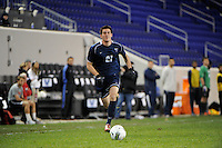 Hayden Harr (21) of the Villanova Wildcats. St. John's defeated Villanova 2-0 during the second semifinal match of the Big East Men's Soccer Championships at Red Bull Arena in Harrison, NJ, on November 11, 2011.