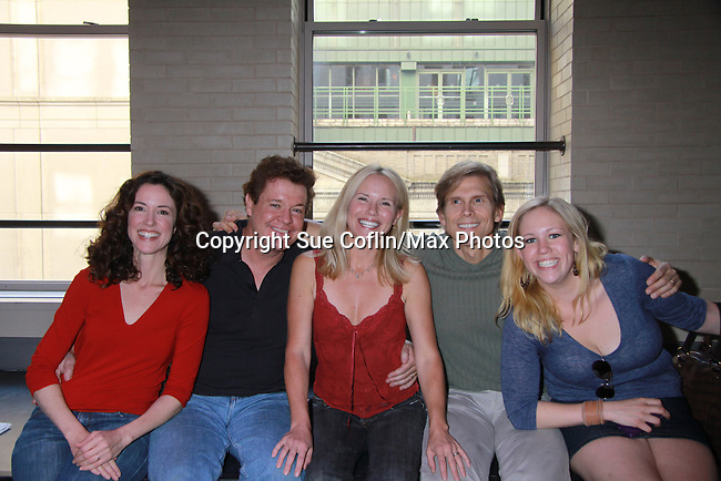 Guiding Light's Jennifer Roszell, Michael O'Leary, Grant Aleksander, Beth Chamberlin, Caitlin vanZandt  at the Daytime Stars and Strikes Charity Event to benefit the American Cancer Society at the Bowlmore Lanes, New York City, New York. (Photo by Sue Coflin/Max Photos)