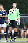 28 September 2014: Notre Dame's Kaela Little. The Wake Forest University Demon Deacons hosted the Notre Dame University Fighting Irish at W. Dennie Spry Soccer Stadium in Winston-Salem, North Carolina in a 2014 NCAA Division I Women's Soccer match.