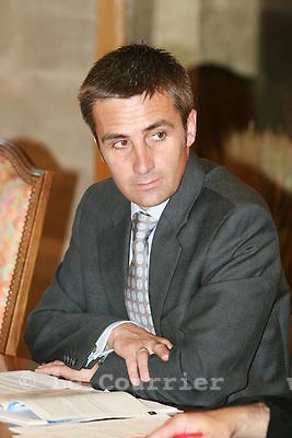 Genève, le 29.05.2007.Conférence de presse du transfert d'actif. François Longchamp du département de la solidarité..© J.-P. Di Silvestro..