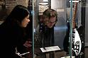 SAITAMA - DEC. 5: Museum visitor, Matthias Kluckert, with his Japanese girlfriend, Yuko, looking at one of John Lennon's guitars at the John Lennon Museum. (Photo by Alfie Goodrich/Nippon News)