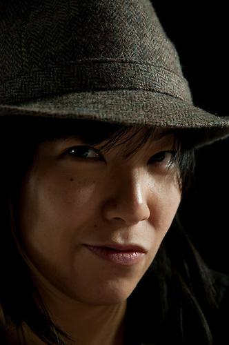 Asian female portrait shot in studio.