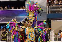 SÃO PAULO, SP, 09.03.2019 - CARNAVAL-SP - Integrante da escola de samba Pérola Negra durante Desfile das campeãs do Carnaval de São Paulo, no Sambódromo do Anhembi em Sao Paulo, na madrugada desta segunda-feira.09 (Foto: Anderson Lira/Brazil Photo Press)