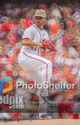 27 May 2013: Washington Nationals starting pitcher Gio Gonzalez on the mound against the Baltimore Orioles at Nationals Park in Washington, DC. The Orioles defeated the Nationals 6-2, taking the Memorial Day, first game of their interleague series. Mandatory Credit: Ed Wolfstein Photo *** RAW (NEF) Image File Available ***