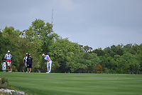 Billy Horschel (USA) hits his approach shot on 1 during day 1 of the Valero Texas Open, at the TPC San Antonio Oaks Course, San Antonio, Texas, USA. 4/4/2019.<br /> Picture: Golffile | Ken Murray<br /> <br /> <br /> All photo usage must carry mandatory copyright credit (© Golffile | Ken Murray)