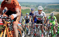 Yukiya Arashiro (JAP/Europcar) up the very steep Gulperberg (max 19%)<br /> <br /> Amstel Gold Race 2014