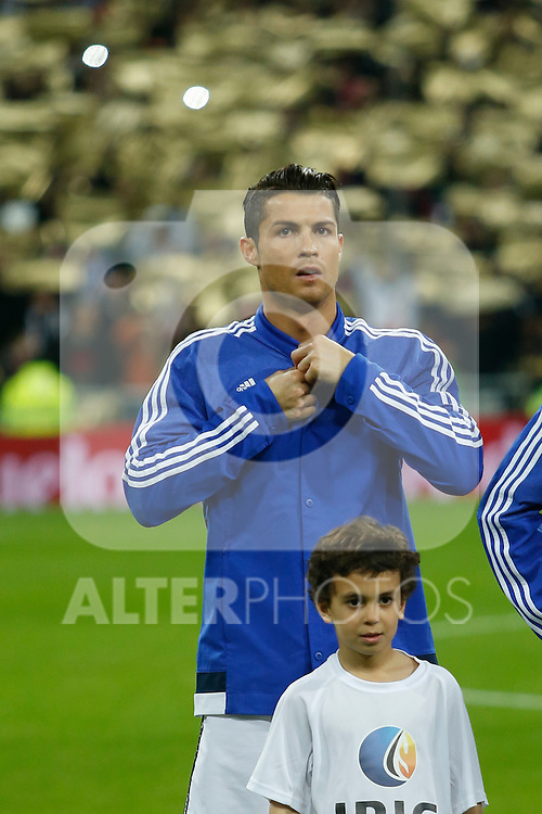 Real Madrid´s Cristiano Ronaldo during Spanish King´s Cup match at Santiago Bernabeu stadium in Madrid, Spain. January 15, 2015. (ALTERPHOTOS/Victor Blanco)