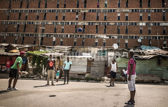 Johannesburg, South Africa,  . Alexandra is the biggest Slum in Johannesburg. Here Mandela leaved in the ´40 as soon as he left his hometown.Alexandra is one of the poorest urban areas in the country