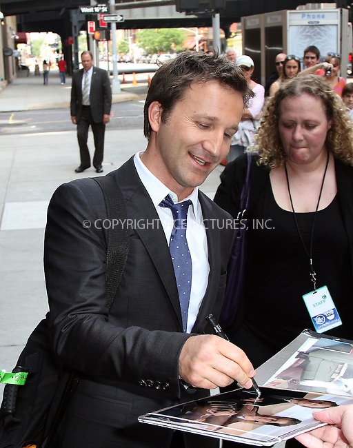 WWW.ACEPIXS.COM . . . . .  ....May 16 2012, New York City....Actor Breckin Meyer signed autographs outside a midtown hotel on May 16 2012 in New York City....Please byline: Zelig Shaul - ACE PICTURES.... *** ***..Ace Pictures, Inc:  ..Philip Vaughan (212) 243-8787 or (646) 769 0430..e-mail: info@acepixs.com..web: http://www.acepixs.com