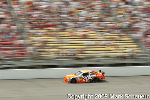 June 14 2009:  Joey Logano races in the LifeLock 400 at Michigan International Speedway in Brooklyn, MIchigan.