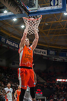 VALENCIA, SPAIN - December 2: Justin Hamilton during EUROCUP match between Valencia Basket Club and Ratiopharm ULM at Fonteta Stadium on December 2, 2015
